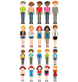 Different characters man and woman vector image vector image