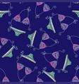doodle bikini seamless pattern vector image