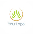eco green plant logo vector image