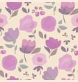 elegant violet color boho style floral vector image