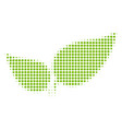floral leaves halftone icon vector image vector image