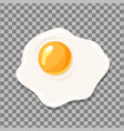 fried egg isolated egg icon vector image