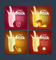 Fruit mix sweet milkshake dessert cocktail