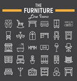 furniture line icon set interior sign collection vector image