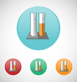Glass test tube icon set vector image