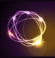 glowing neon abstract circles shiny background vector image vector image
