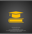 graduation cap icon simple book element symbol vector image vector image