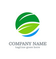 green leaf business company logo vector image vector image