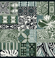 hawaiian style tapa fabric patchwork tribal vector image