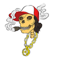 Hiphop Bone Smoke vector image vector image