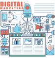 Infographics elements concept of Digital Market vector image