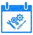 Instrument Tools Calendar Day Grainy Texture Icon vector image vector image