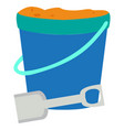isolated sand bucket vector image vector image