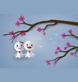 japanese paper doll against rain vector image