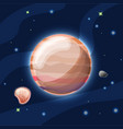 jupiter cartoon light orange vector image vector image