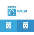 laundry and water drop logo combination vector image vector image