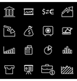 Line economic icon set
