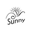 logo sun vector image vector image