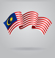 Malaysian waving Flag vector image