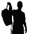 man silhouette recreation vector image vector image
