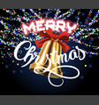 merry christmas golden bell vector image vector image