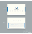 minimal clean design business card template vector image vector image