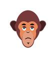 monkey sad emoji marmoset unhappy emotion vector image vector image