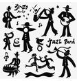 Musicians doodles set vector image vector image