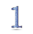 Number one Blue Sapphire Glitter vector image
