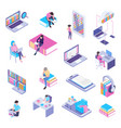 online library isometric set vector image vector image
