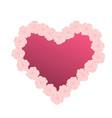 pink flower heart vector image vector image
