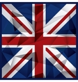 Polygonal flag background United kingdom design vector image