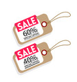 price tag sale 60 40 special offer image vector image vector image