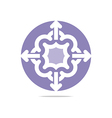 purple arch element design abstract icon vector image vector image