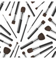 realistic detailed 3d makeup tools seamless vector image vector image