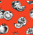 seamless pattern of tomato background vector image vector image