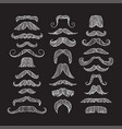 set of hand drawn old fashion mustaches black vector image vector image