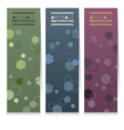 Set Of Three Abstract Vertical Banners vector image vector image