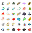 shop cons set isometric style vector image vector image