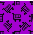 Shopping basket web icon flat design Seamless vector image