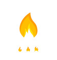 simple flame icon in orange color vector image