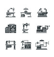 steel industry machine tools icons vector image vector image