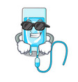super cool infussion bottle character cartoon vector image