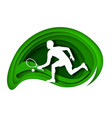 tennis player with racket and ball white vector image vector image