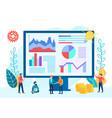 tiny people teamwork startup optimization vector image vector image