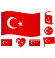 turkish national flag in vector image vector image
