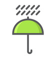umbrella symbol filled outline icon logistic vector image vector image