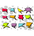 variety cartoon speech bubbles on background vector image vector image