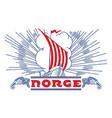 viking scandinavian design viking ship drakkar vector image vector image