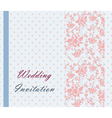 Vintage retro Wedding invitation vector image vector image